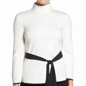 NWT Vince Camuto black & white bell sleeve
